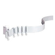 Windoware 120cm White Aluminium Flexible Shape Curtain Track