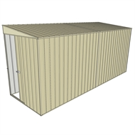 Build-a-Shed 1.5 x 4.5 x 2m Sliding Door Tunnel Shed without Side Doors - Cream