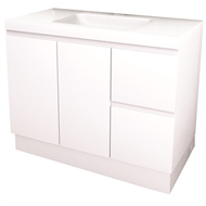 Everhard 900mm White Bloom Bathroom Vanity With Right Hand Drawer