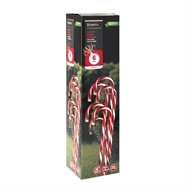 Lytworx Solar Candy Cane Stakes - 6 Pack