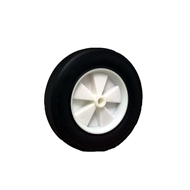 Ambassador 200mm Black Rubber Tyre With White Plastic Centre