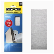 Flexovit 180 Grit Painted Surface 1 / 3 Sheet Orbital Sanding Sheet - 5 Pack