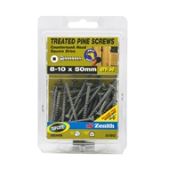 Zenith 8 - 10 x 50mm Treated Pine Square Drive Screws - 50 Pack