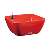Eden 22cm Red Low Bowl Self Watering Plastic Pot