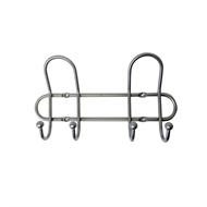 Adoored Satin Chrome Wire Hook Rail With 2 Hooks