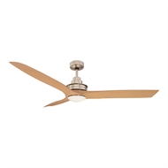 Mercator Flinders Ceiling Fan with LED Light - Brushed Chrome