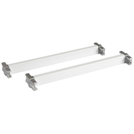 Flexi Storage 235mm White Cross Bars And T Connector