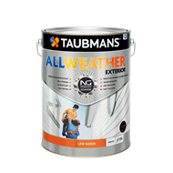 Taubmans 10L Low Sheen White All Weather® Exterior Paint