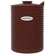 Polymaster 1000L Round Corrugated Poly Water Tank - Heritage Red
