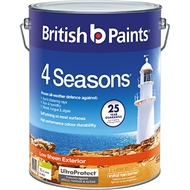 British Paints 4 Seasons 10L Low Sheen Mid Base Exterior Paint