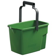 Oates 9L Plastic Rectangular Mop Bucket - Green