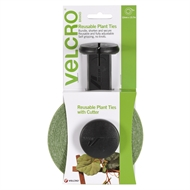 VELCRO® Brand 12mm x 13.7m Green Reusable Plant Ties With Cutter