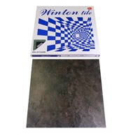 Winton Ideal Series 457 x 457mm Charcoal Brown Slate Self Stick Vinyl Tile - 16 Pack