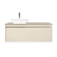 Forme 1200mm Colourstone / Hogsbristle Cubo Wall Hung Vanity