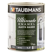 Taubmans Ultimate Enamel 1L Neutral Gloss Alkyd Based Enamel