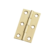Zenith 50mm Brass Fixed Pin Butt Hinge - 2 Pack