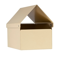 Sandleford 160 x 210 x 290mm Cream Crest Economy Post Mounted Letterbox