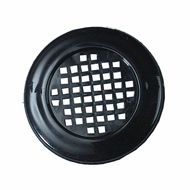 Haron 40mm Black Round Cupboard Vent