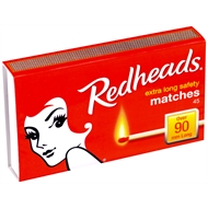 Redheads Extra Long Matches - 45 Pack