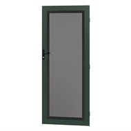 Protector Aluminium 808-848 x 2030-2070mm Adjustable Perforated Barrier Door - Heritage Green