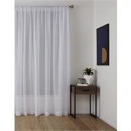 Windoware 1400 x 2500mm Harmony White Sheer Rod Pocket Curtain