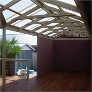 Softwoods 12.0 x 5.5m Suntuf Standard Gable Roof Pergola Kit