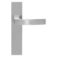 Delf 225mm Satin Chrome Calais Lever Latch Passage Set