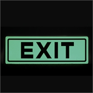 Sandleford 300 x 100mm Exit Glow In The Dark Plastic Sign