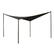 Coolaroo 4 x 4m Charcoal Square Butterfly Semi-Permanent Gazebo