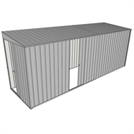 Build-a-Shed 1.5 x 5.2 x 2m Sliding Door Tunnel Shed with Sliding Side Door - Zinc
