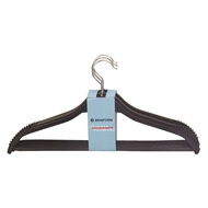 Braiform Black Wood Clothes Hanger - 4 Pack