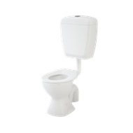 Caroma WELS 4 Star White Junior 200 Toilet Suite
