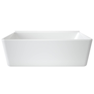 Caroma 1750 x 850 x 572mm White Cube 1800 Back to Wall Freestanding Bath