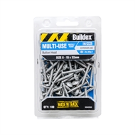 Buildex 8 - 15 x 32mm Button Head Needle Point Screws - 100 Pack