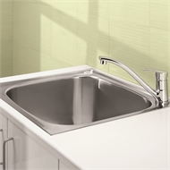 Clark 70L Flushline Single Bowl Trough With Bypass Kit
