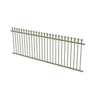 Protector Aluminium 2450 x 900mm J Spear Top Fence Panel - Pale Eucalypt
