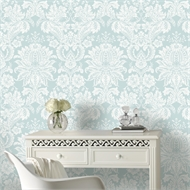 Superfresco Easy 52cm x 10m Blue Venetian Wallpaper