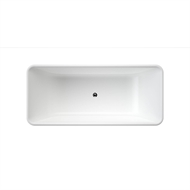 Caroma 1675 x 750 x 460mm Gloss White Cube Island Bath