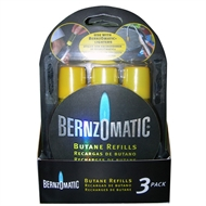 BernzOmatic 13.3ml Butane Refills - 3 Pack
