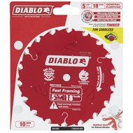 Diablo 140mm 18 Teeth Framing Cordess Circular Saw Blade