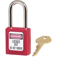 Master Lock Red KA Safety Lockout Padlock - 3 Pack