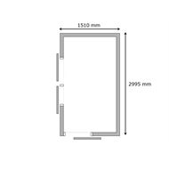 Build-a-Shed 1.5 x 3 x 2m Double Sliding Side Door Skillion Shed - Cream