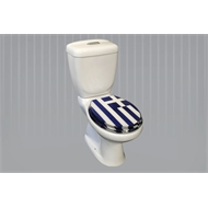 Loo With a View Greek Flag 2 Piece Toilet Seat