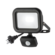 Arlec 20W LED Black Flood Security Light With PIR Sensor