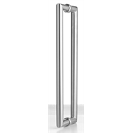 Lemaar 800 x 32mm Stainless Steel Back to Back Round Entry Handle Set