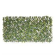 UN-REAL 2 x 1m Artificial Expanding Hedge Trellis - Green Photinia