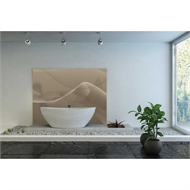Bellessi 1220 x 2440 x 4mm Motiv Polymer Bathroom Panel - Desert Smoke