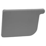 COLORBOND 115mm LH Quad Gutter Stop End - Basalt