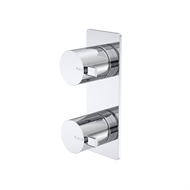 Caroma Chrome Liano 2 Hole And Plate Mount Wall Top Assemblies