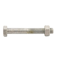 Zenith M10 x 75mm Galvanised Hex Head Bolt and Nut